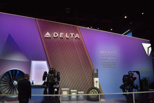 Delta is listed (or ranked) 3 on the list 8 CES 2020 Booths That Blew Us Away