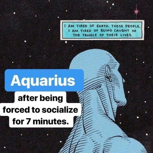 Random Funniest Memes That Describe What It's Like To Be An Aquarius in 2020