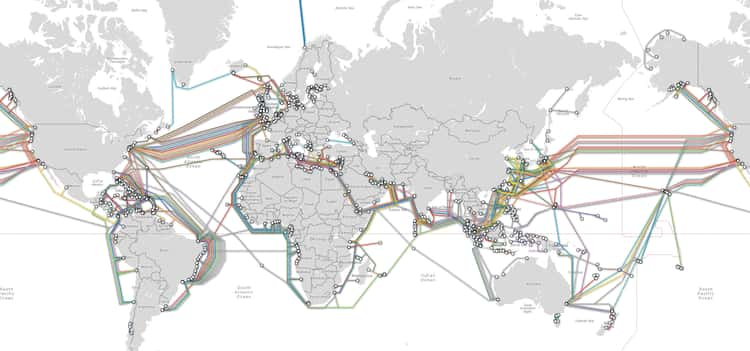 Underwater Cables That Sustain The Internet