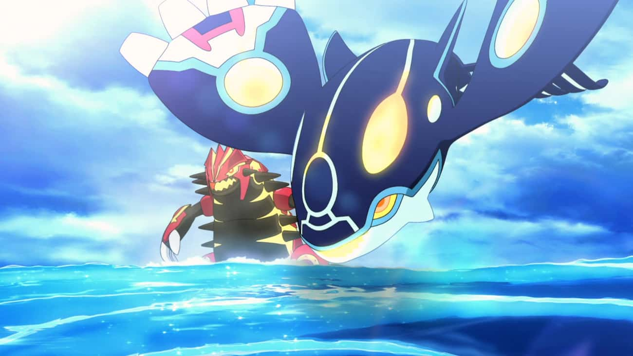 Groudon, Kyogre & Rayquaza - ' is listed (or ranked) 3 on the list 13 Anime Characters Who Can Manipulate The Weather