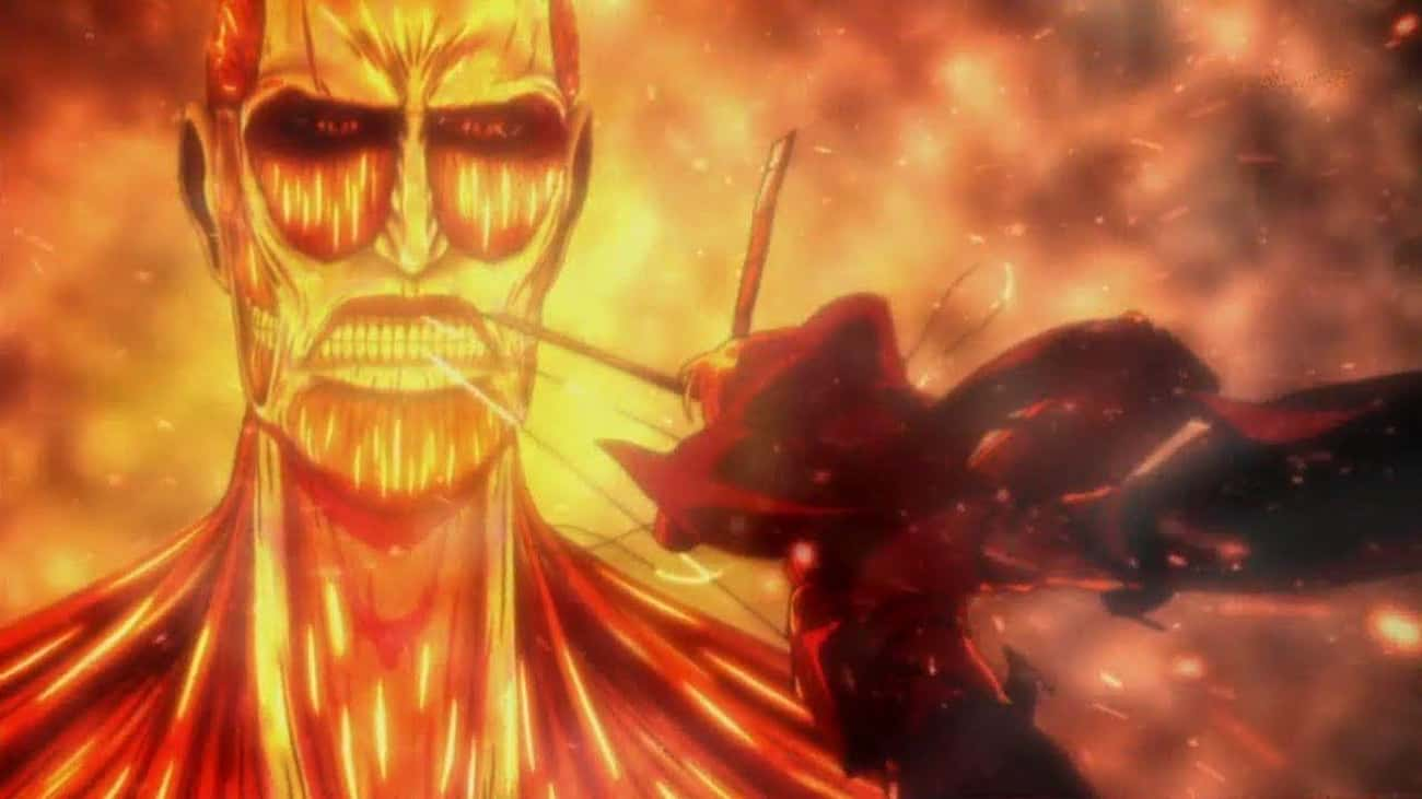 Armin Gets Burned To A Crisp T is listed (or ranked) 4 on the list The 17 Most Heroic Anime Sacrifices Of All Time