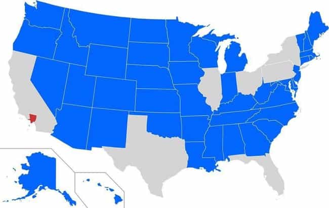 Blue States Have A Small... is listed (or ranked) 1 on the list 17 Maps Of The United States That Made Us Say