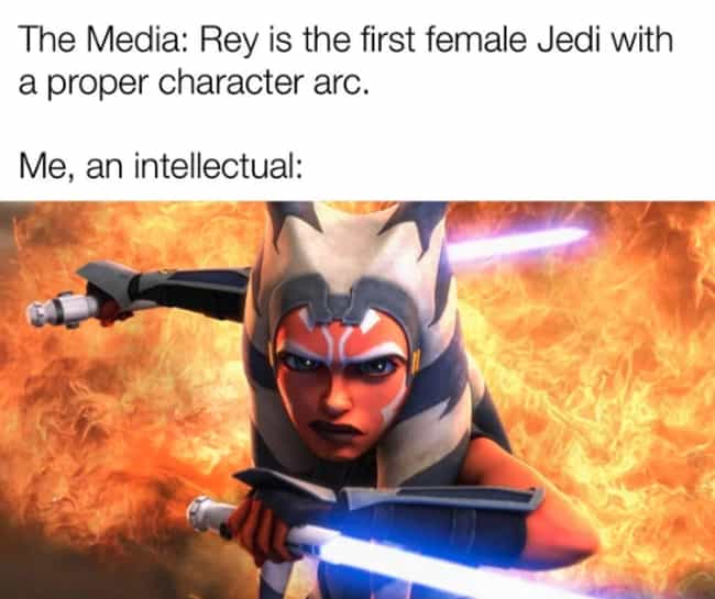 Justice For Ahsoka is listed (or ranked) 1 on the list 28 Memes That Only Fans Of The 'Star Wars' Prequel Trilogy Will Appreciate