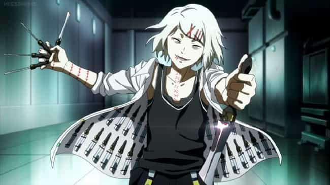 """Juuzou Suzuya - 'Tokyo G... is listed (or ranked) 2 on the list 15 Anime 'Knife Nuts"""" Who Prefer To Fight With Knives"""