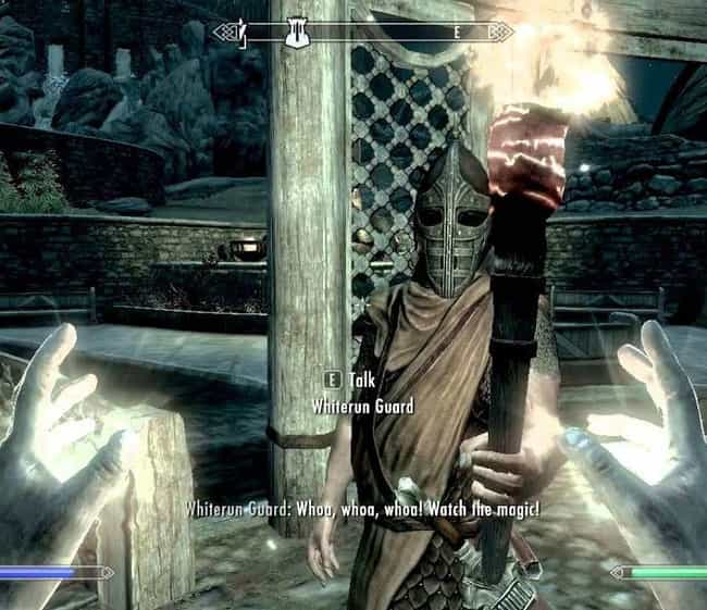 Watch the Magic is listed (or ranked) 8 on the list 15 Random 'Skyrim' Quotes That Are Way Funnier Than They Should Be