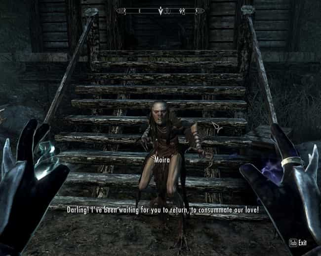 Consummate Our Love is listed (or ranked) 7 on the list 15 Random 'Skyrim' Quotes That Are Way Funnier Than They Should Be