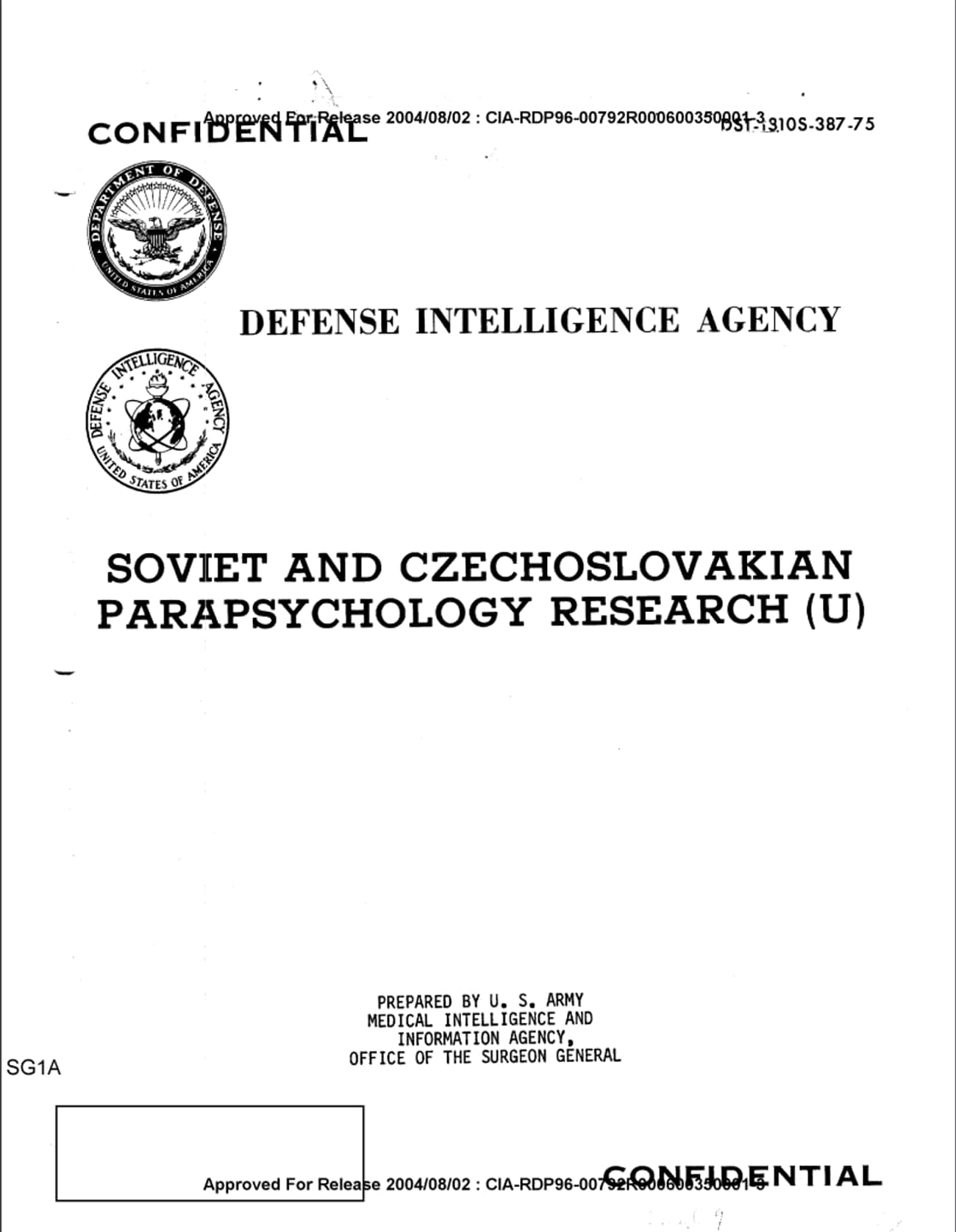 Soviet Researchers Allegedly U is listed (or ranked) 1 on the list The Creepiest Declassified Documents Available To The Public