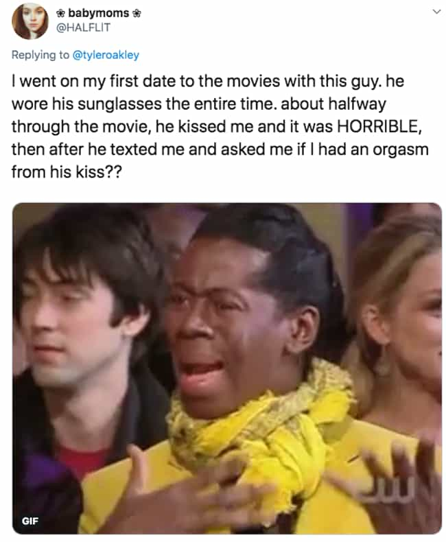 So Many Questions... And... is listed (or ranked) 2 on the list People On Twitter Are Sharing The Most Terrible Dates They've Ever Been On