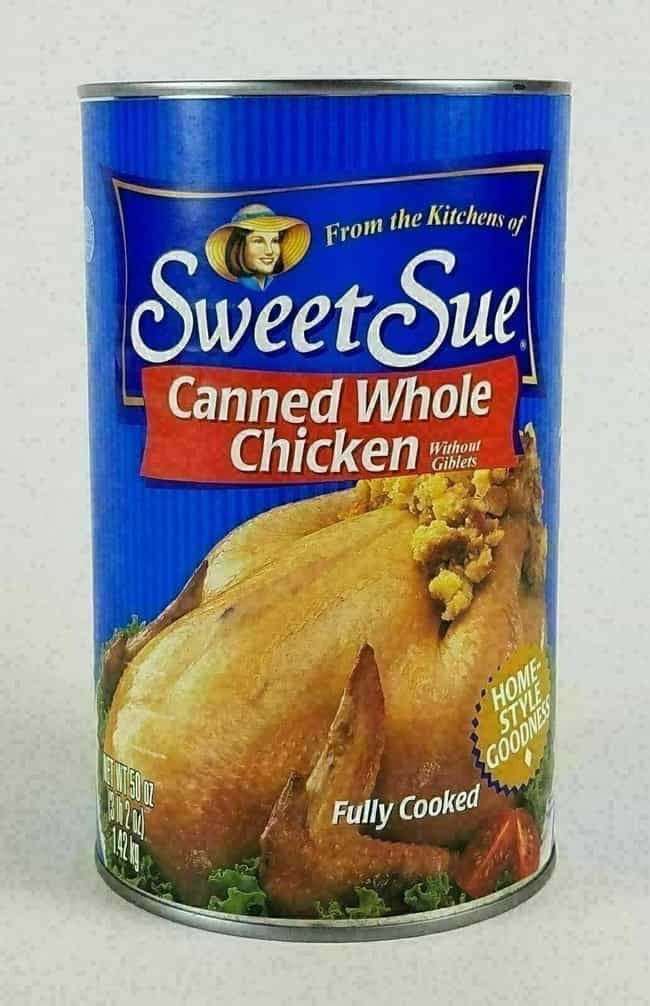 Sweet Sue Canned Whole C... is listed (or ranked) 2 on the list Food Products That Are A Little Too Convenient