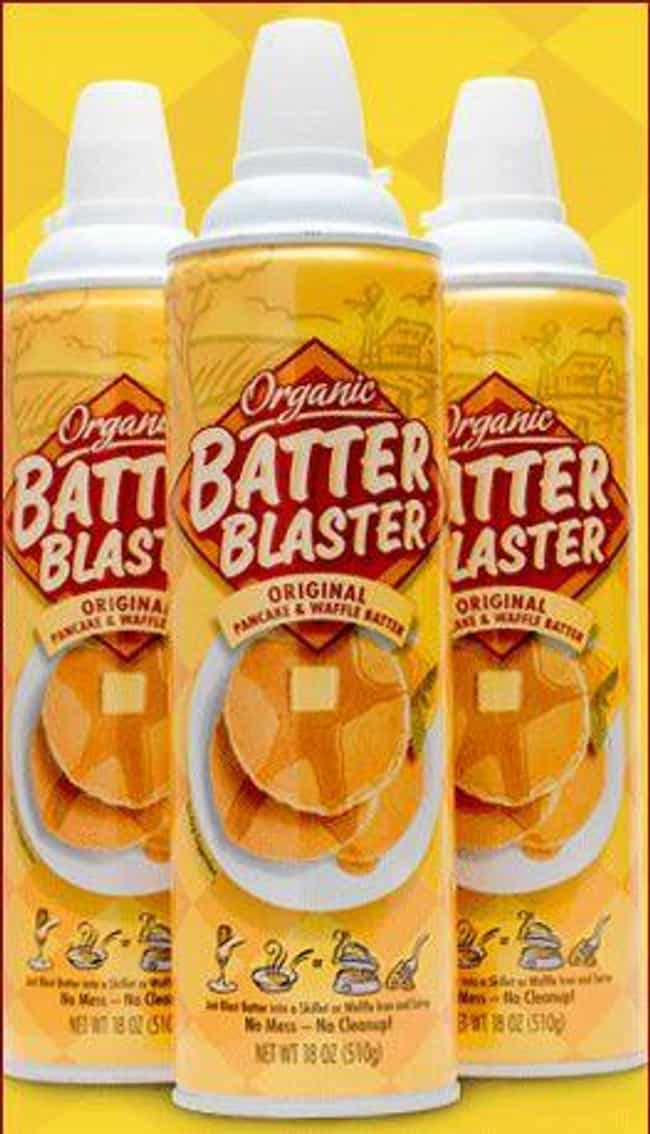 Batter Blaster is listed (or ranked) 1 on the list Food Products That Are A Little Too Convenient