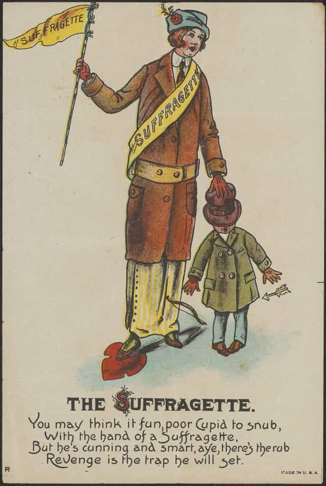 The Snubbing Suffragette... is listed (or ranked) 3 on the list People Used To Send Each Other Savage Valentine's Cards