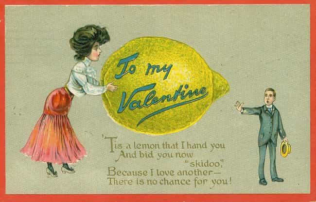 The Lemon Recipient, Cir... is listed (or ranked) 2 on the list People Used To Send Each Other Savage Valentine's Cards