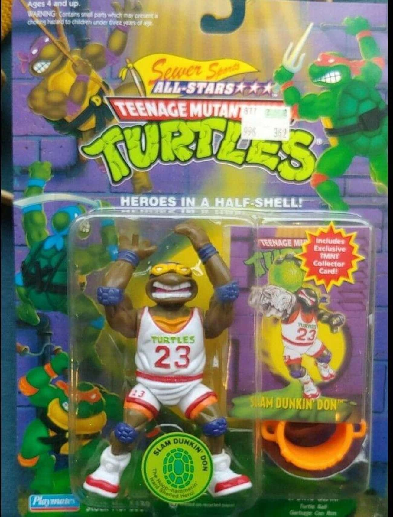 Slam Dunkin' Don Figure is listed (or ranked) 2 on the list It's Crazy How Much These Teenage Mutant Ninja Turtles Toys Are Worth Today