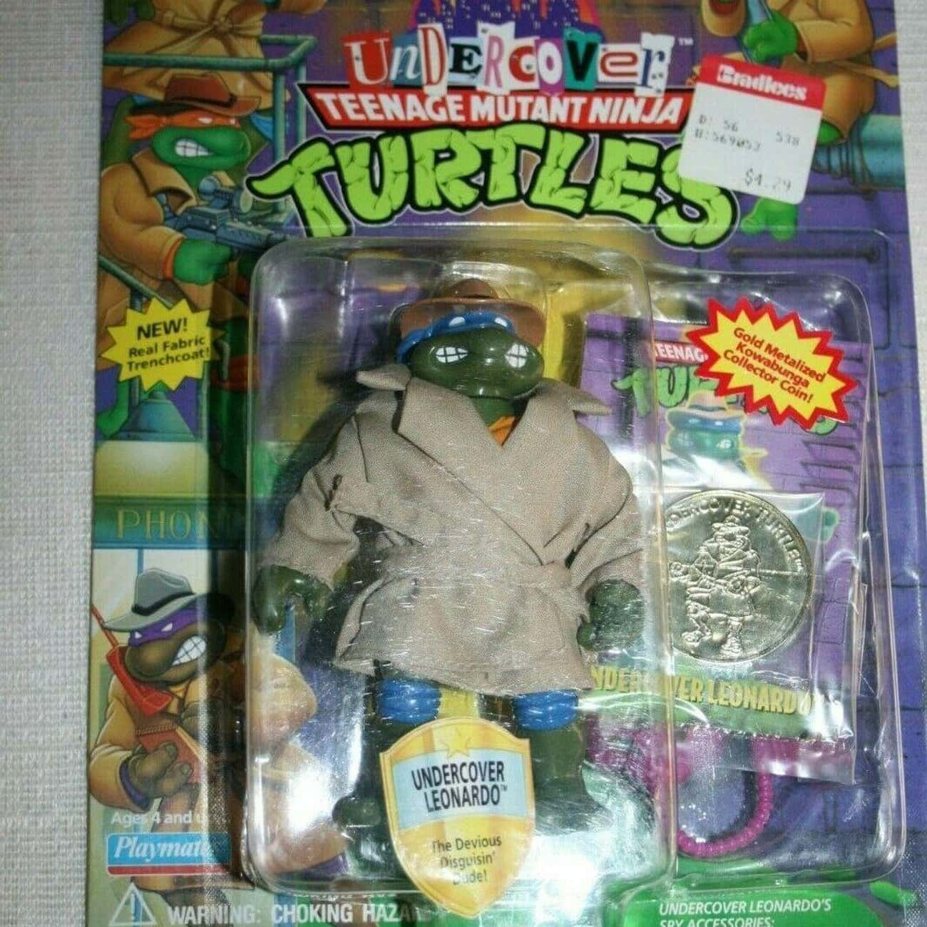Undercover Leonardo Toy is listed (or ranked) 4 on the list It's Crazy How Much These Teenage Mutant Ninja Turtles Toys Are Worth Today