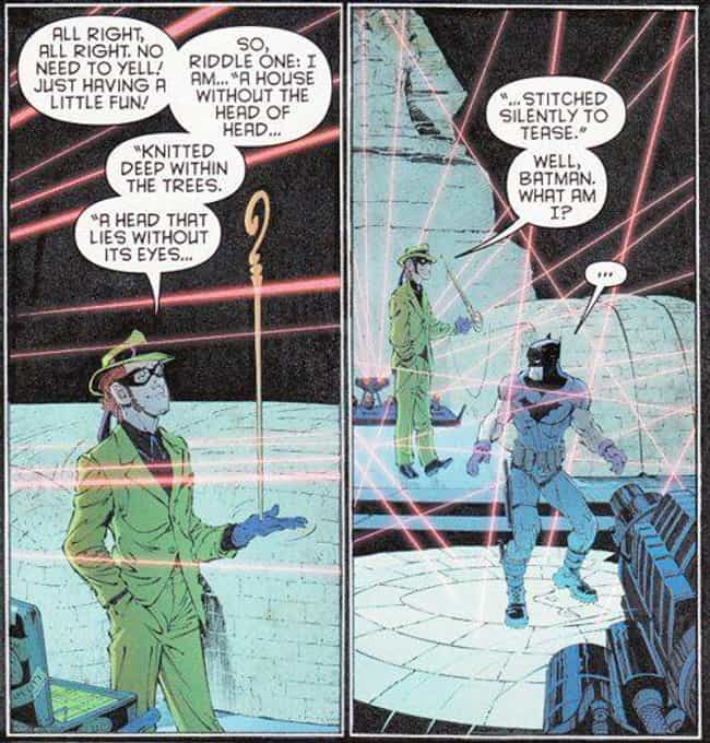 Annoyingly Complex is listed (or ranked) 4 on the list The Best Riddles Posed By The Riddler In Batman Comics