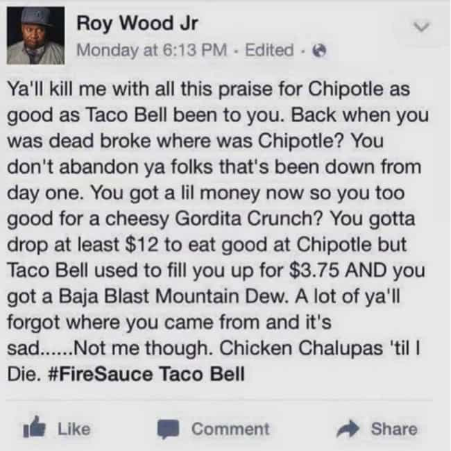 Where Was Chipotle? is listed (or ranked) 1 on the list 27 Memes That Capture The Intense Love People Have For Taco Bell