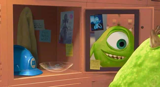 Mike Has 3 Post-Its Up R... is listed (or ranked) 1 on the list 20 Movie Details You Probably Never Noticed In Monsters, Inc.