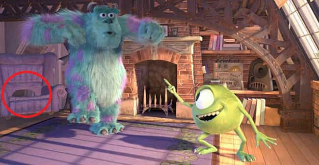 Sully's Chair Has A Hole... is listed (or ranked) 2 on the list 20 Movie Details You Probably Never Noticed In Monsters, Inc.
