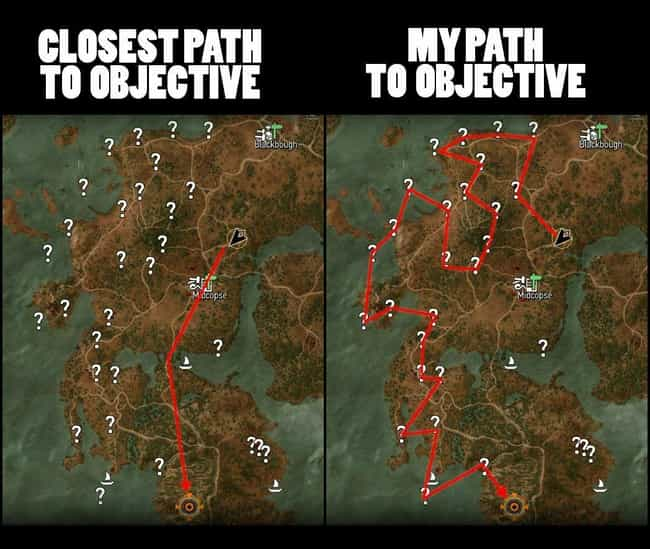 One Or Two Stops is listed (or ranked) 2 on the list 25 Memes That Are Hilarious If You've Played Too Much Of The Witcher
