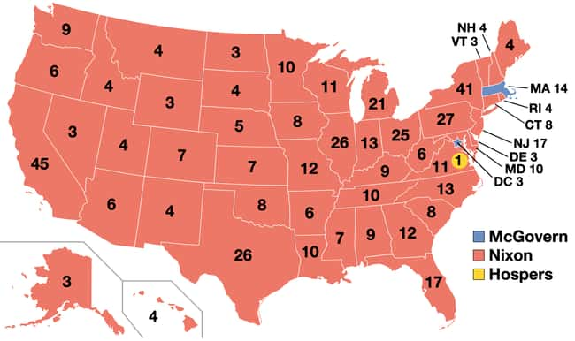 1972: Richard Nixon vs. George is listed (or ranked) 19 on the list These Maps Of Every Election In The Past Century Show How Dramatically America Has Changed
