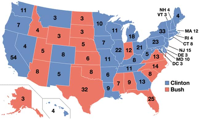 1992: Bill Clinton vs. George  is listed (or ranked) 24 on the list These Maps Of Every Election In The Past Century Show How Dramatically America Has Changed