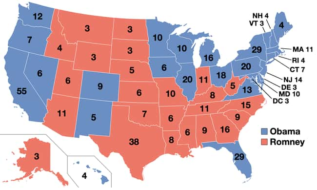 2012: Barack Obama vs. Mitt Ro is listed (or ranked) 29 on the list These Maps Of Every Election In The Past Century Show How Dramatically America Has Changed
