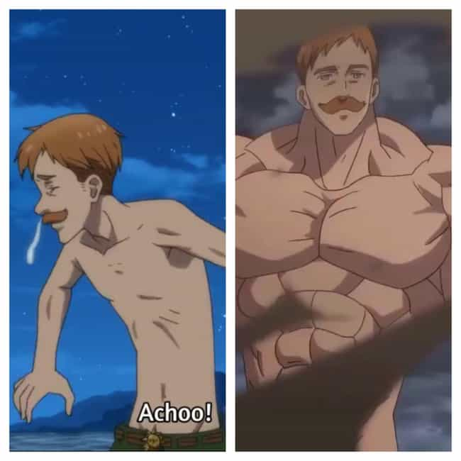 Escanor - 'The Seven Dea... is listed (or ranked) 2 on the list 13 Anime Characters Who Can Bulk Up Out Of Nowhere