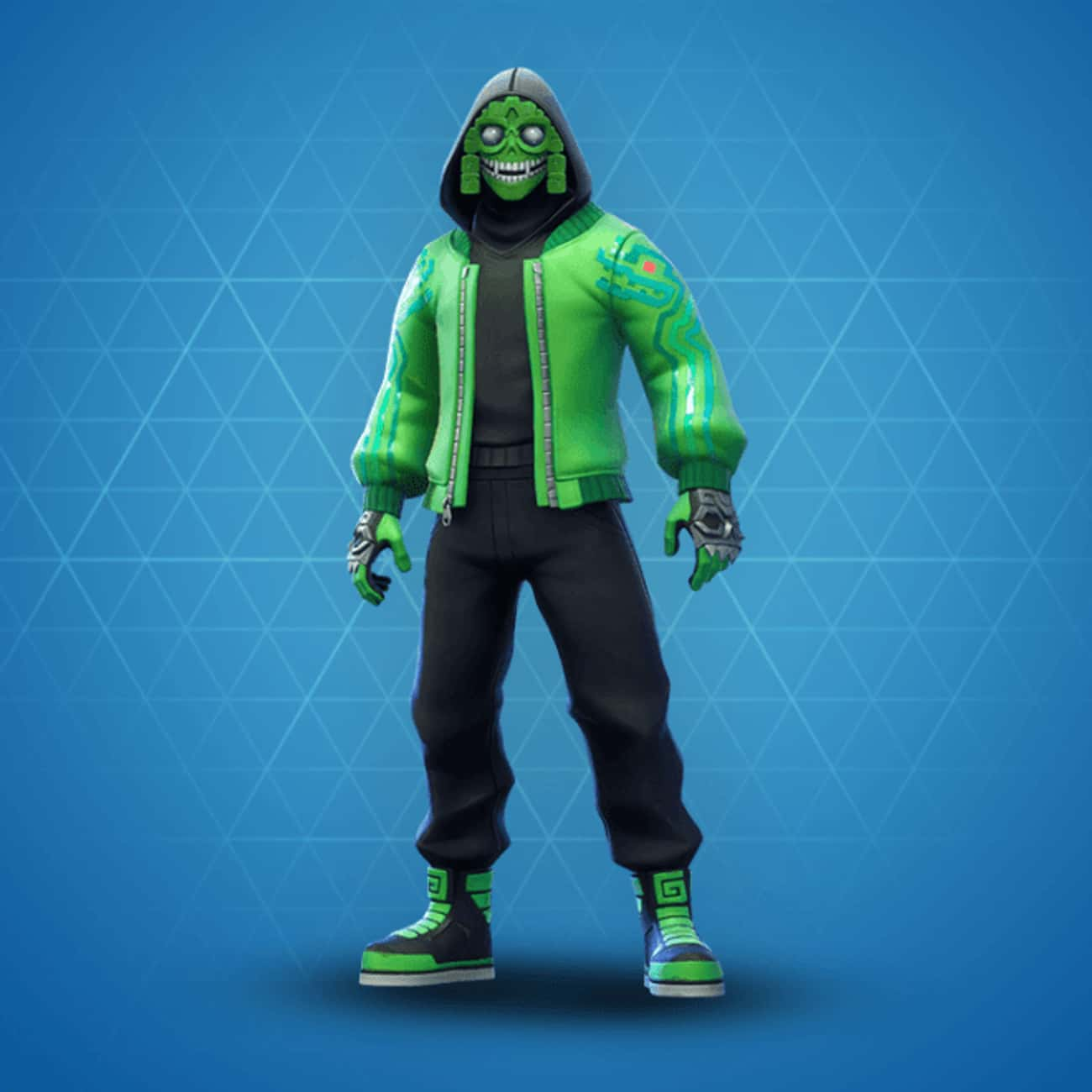 Mezmer is listed (or ranked) 2 on the list The Best Green Skins In 'Fortnite'