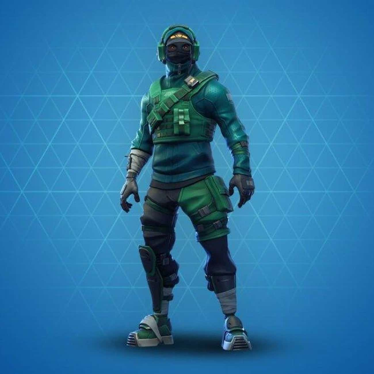 Reflex is listed (or ranked) 4 on the list The Best Green Skins In 'Fortnite'