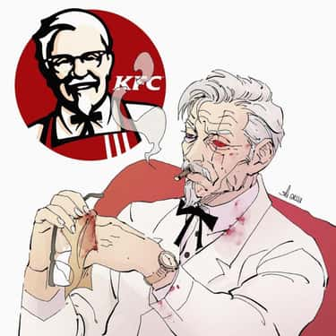 KFC is listed (or ranked) 1 on the list This Artist Turns Fast Food Brands Into Incredible Anime Villains