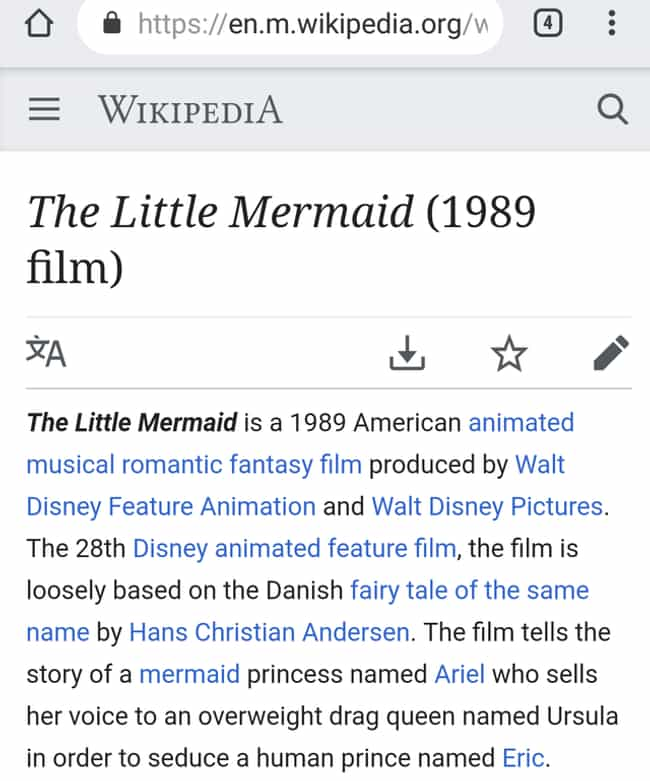 'The Little Mermaid' is listed (or ranked) 3 on the list 30 Times People Made Their Own Hilarious Edits To Wikipedia