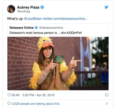 She Can Engage In A Little Fri is listed (or ranked) 2 on the list 19 Hilariously Weird Aubrey Plaza Tweets That Prove She Is April Ludgate