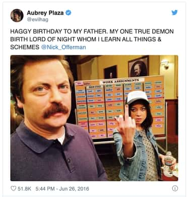 She Gives Credit Where Credit  is listed (or ranked) 1 on the list 19 Hilariously Weird Aubrey Plaza Tweets That Prove She Is April Ludgate