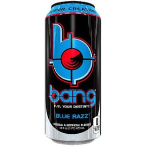 Blue Razz is listed (or ranked) 8 on the list The Best Bang Energy Drink Flavors, Ranked By Taste