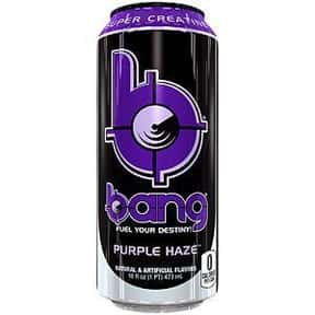 Purple Haze is listed (or ranked) 6 on the list The Best Bang Energy Drink Flavors, Ranked By Taste