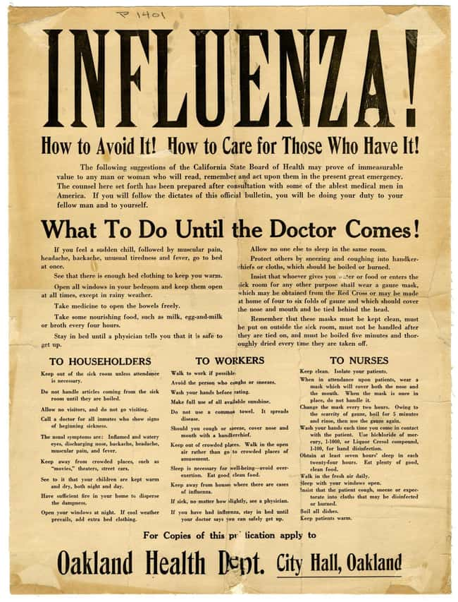 Government Officials Initially is listed (or ranked) 5 on the list What It Was Like To Live Through The 'Spanish Flu' Pandemic Of 1918-1919