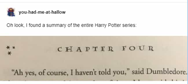Basically is listed (or ranked) 2 on the list 35 Harry Potter Tumblr Posts That Prove This Fandom Is Absolutely Hilarious