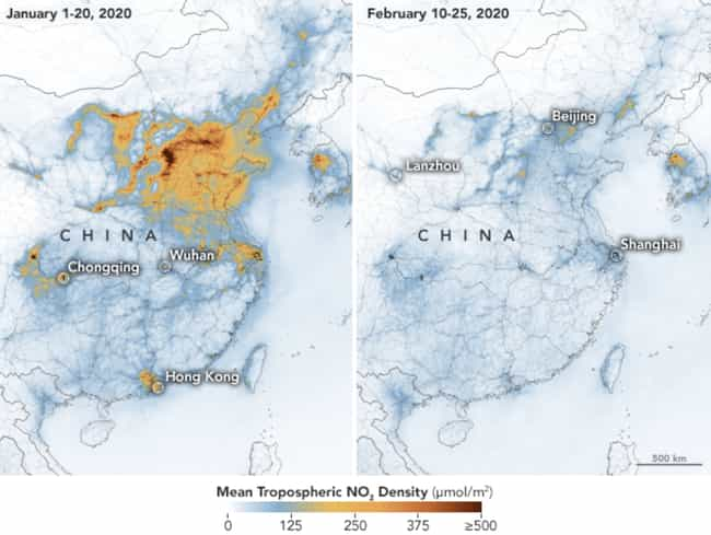 Air Pollution In China B... is listed (or ranked) 1 on the list Eye-Opening Maps And Charts Of The SARS-CoV-2 Virus That Made Us Say 'Whoa'
