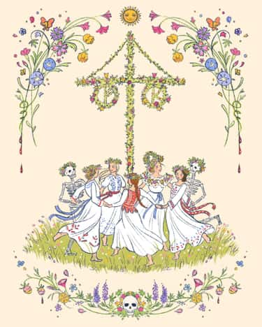 Happy Maypole is listed (or ranked) 2 on the list 23 Pieces Of Twisted, Beautiful 'Midsommar' Fan Art