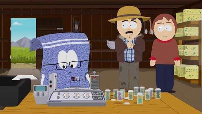 Tegridy Farms is listed (or ranked) 1 on the list The Best 'South Park' Episodes Featuring Towelie