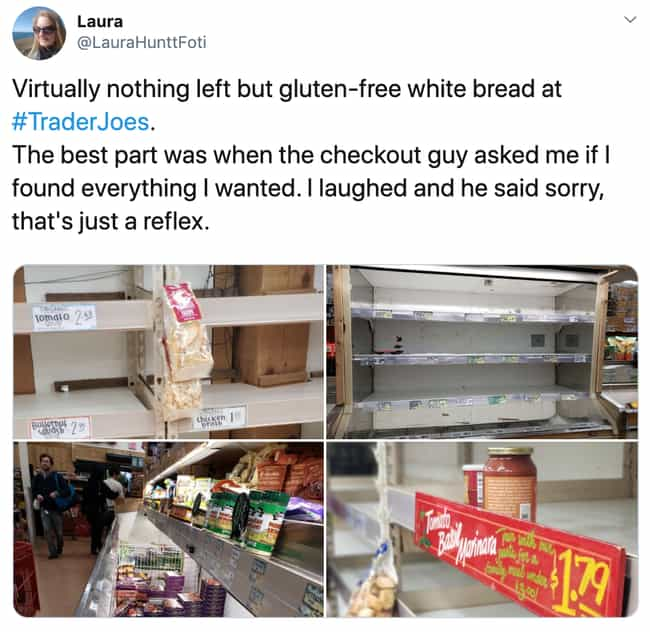Gluten-Free White Bread ... is listed (or ranked) 2 on the list 26 Items Left On The Shelves That Even Panic Buyers Didn't Want