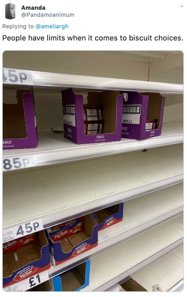 Fig Rolls? You've Got To Be Ki is listed (or ranked) 18 on the list 26 Items Left On The Shelves That Even Panic Buyers Didn't Want