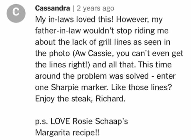 Cassandra Will Get You Y... is listed (or ranked) 2 on the list 27 Of The Wildest Comments Ever Left On Recipes In The New York Times Food Section