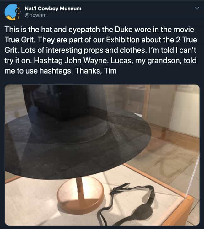 Don't Wear The Displays,... is listed (or ranked) 1 on the list A Museum Put The Security Guy In Charge Of Their Twitter During Quarantine - And It's Amazing