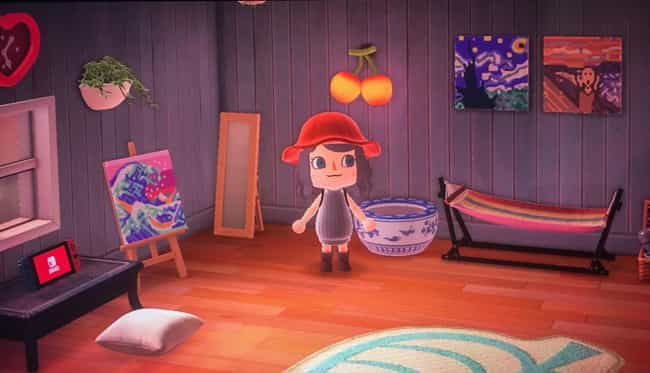Proud Art Lover is listed (or ranked) 4 on the list 25 Amazing 'Animal Crossing: New Horizons' Home Designs For Inspiration