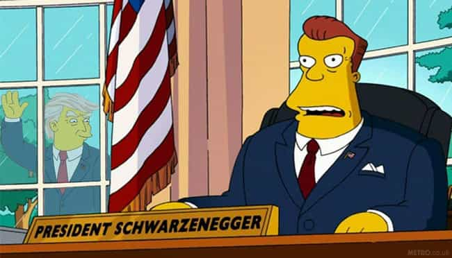 President Arnold Schwarz... is listed (or ranked) 3 on the list Fictional Presidents Who Mishandled Their Biggest Crisis