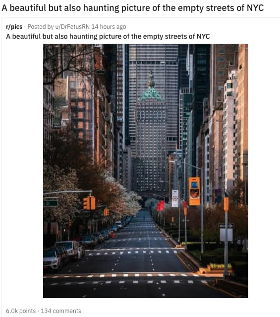 Image of Random Haunting Photos Of Deserted Cities Across America During Pandemic