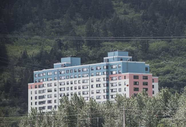 The 2020 Coronavirus Pan... is listed (or ranked) 1 on the list Inside Whittier, Alaska, The Town Where Everyone Lives In The Same Exact Building