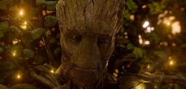 Groot is listed (or ranked) 3 on the list The 20 Most Unforgettable Last Words Of MCU Characters, Ranked