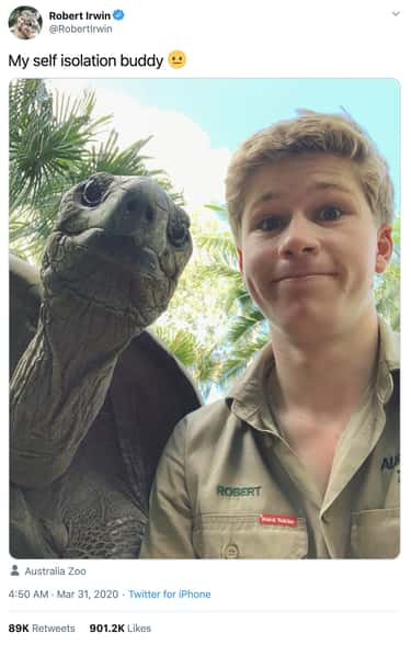 Quarantining With His Twin is listed (or ranked) 2 on the list 21 Photos Of Robert Irwin That Would Make His Father, Steven Irwin, Proud